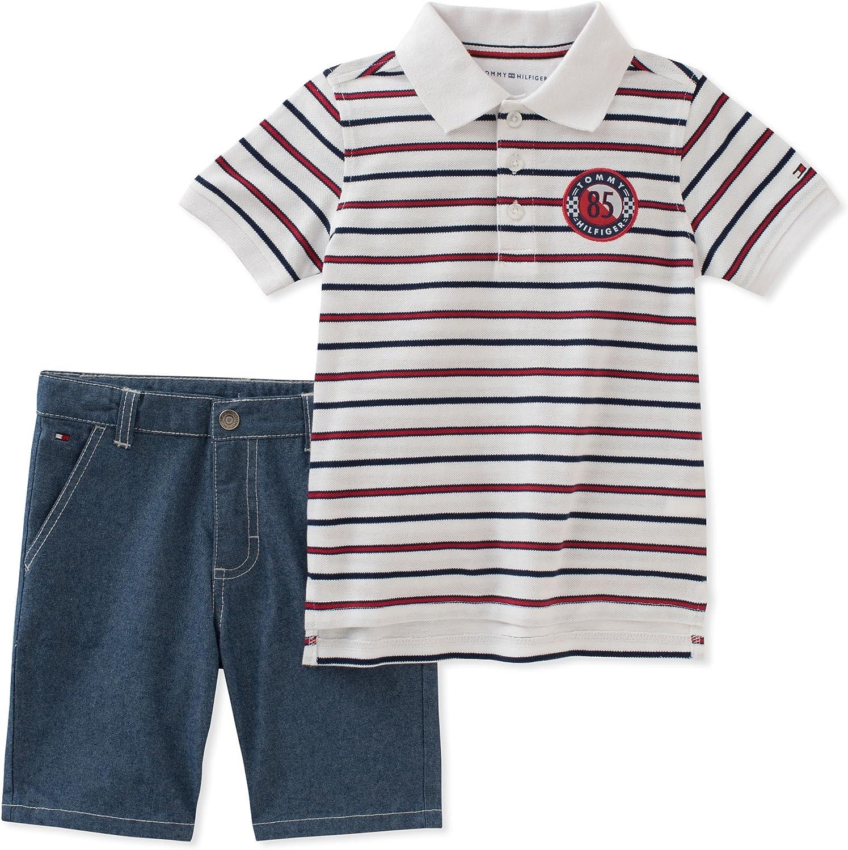 Tommy Hilfiger Boys 2 Pieces Shirt Shorts Set