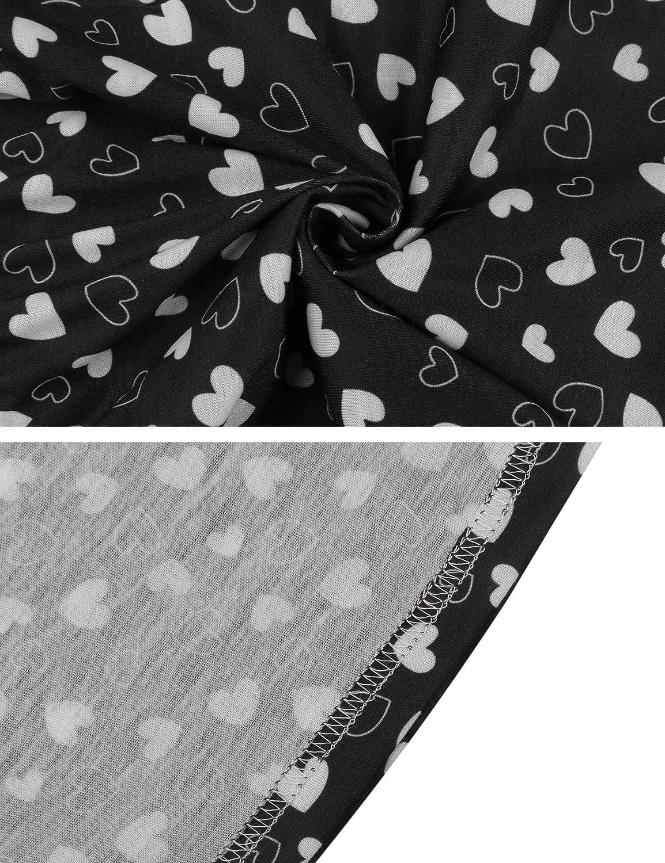 Hawiton Donna Pantaloni Lunghi Pigiama da Notte in Tessuto di Seta Pigiama Pantaloni a Quadretti con Tasche