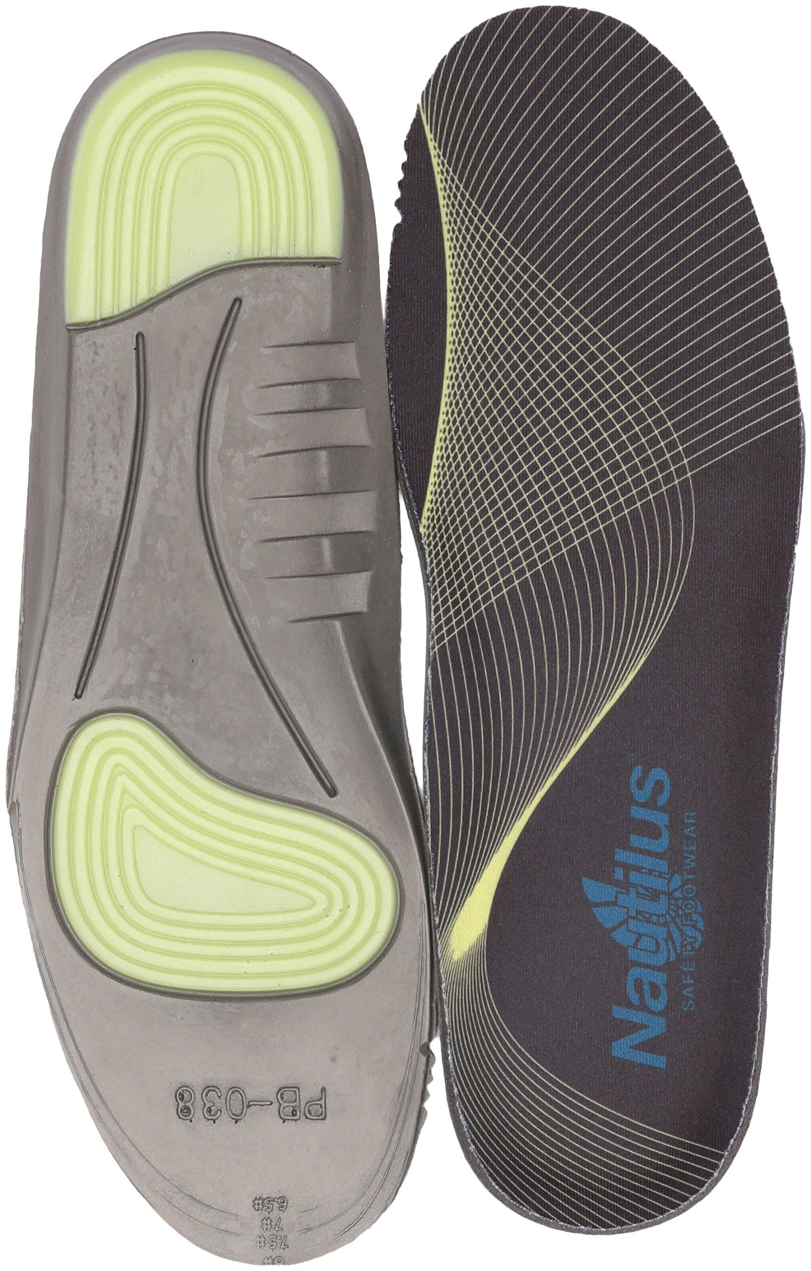 Nautilus Safety Footwear Women's Memory Foam and Gel Impact Insoles Health Care and Food Service Shoe, Black, X-Large/11-12 D US