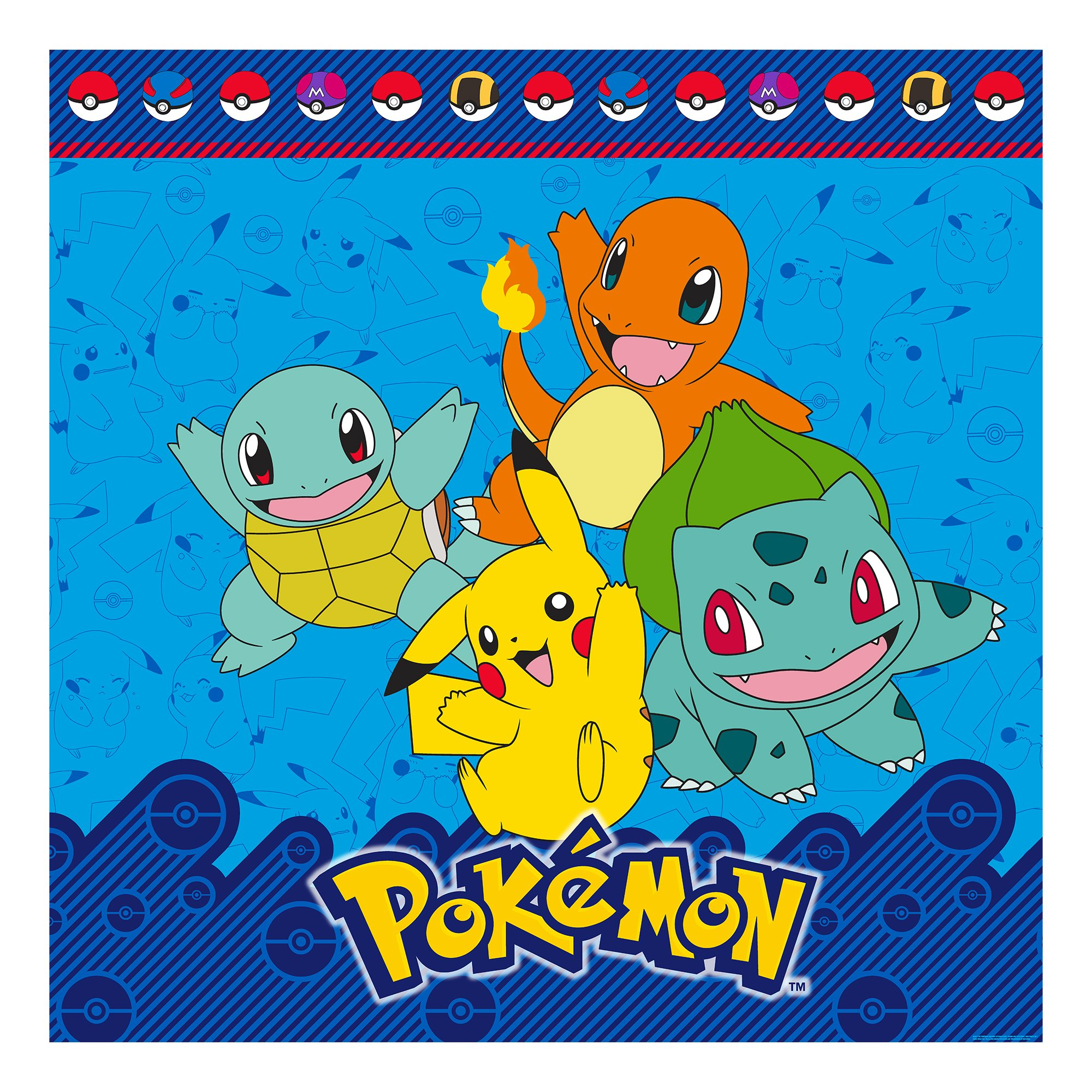 Pokemon Bath Set, Shower Curtain, Hooks, Bath Rug, Wastebasket, and Towel