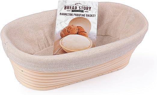 Handmade Oval Natural Cane Rattan Banneton Basket Bread Dough Proving Brotform G