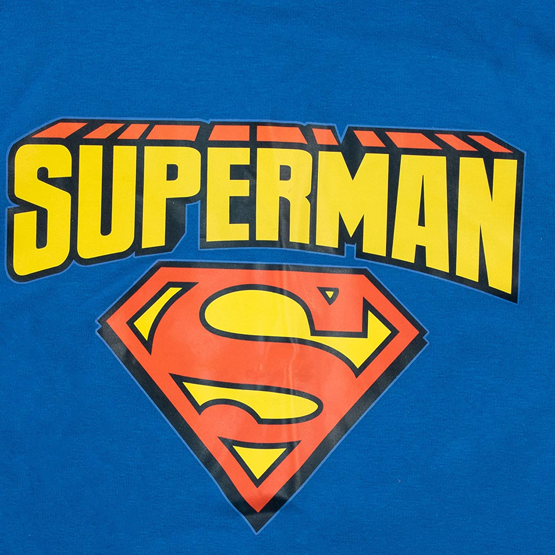 DC Comics Pijamas de Manga Corta para niños Ajuste Ceñido Superman ...