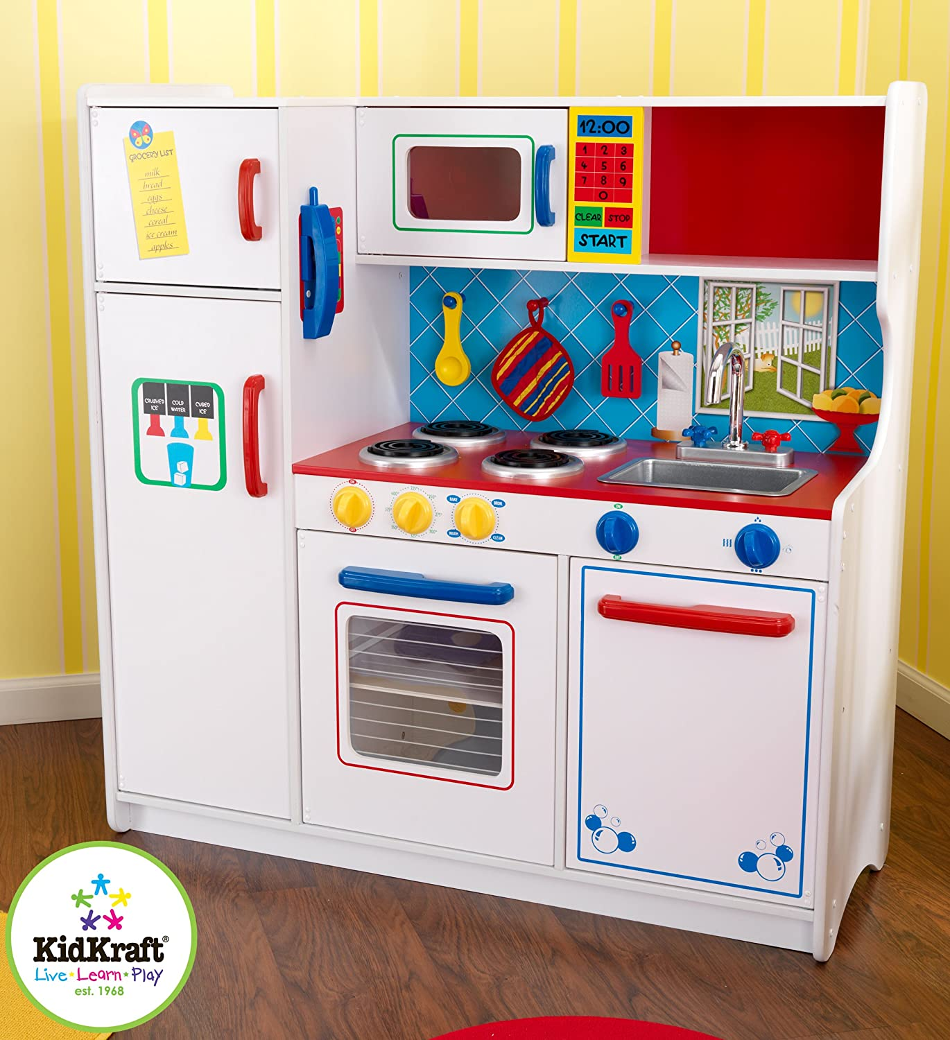 Amazon Kidkraft Deluxe Let s Cook Kitchen Toys & Games