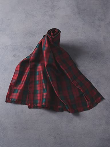 Tartan Silk Scarf 1336-343-3488: Lindsay
