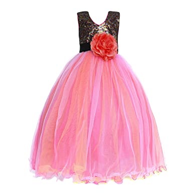7fd65292dc Amberry Little Big Girl's Sequined Party Dress 688