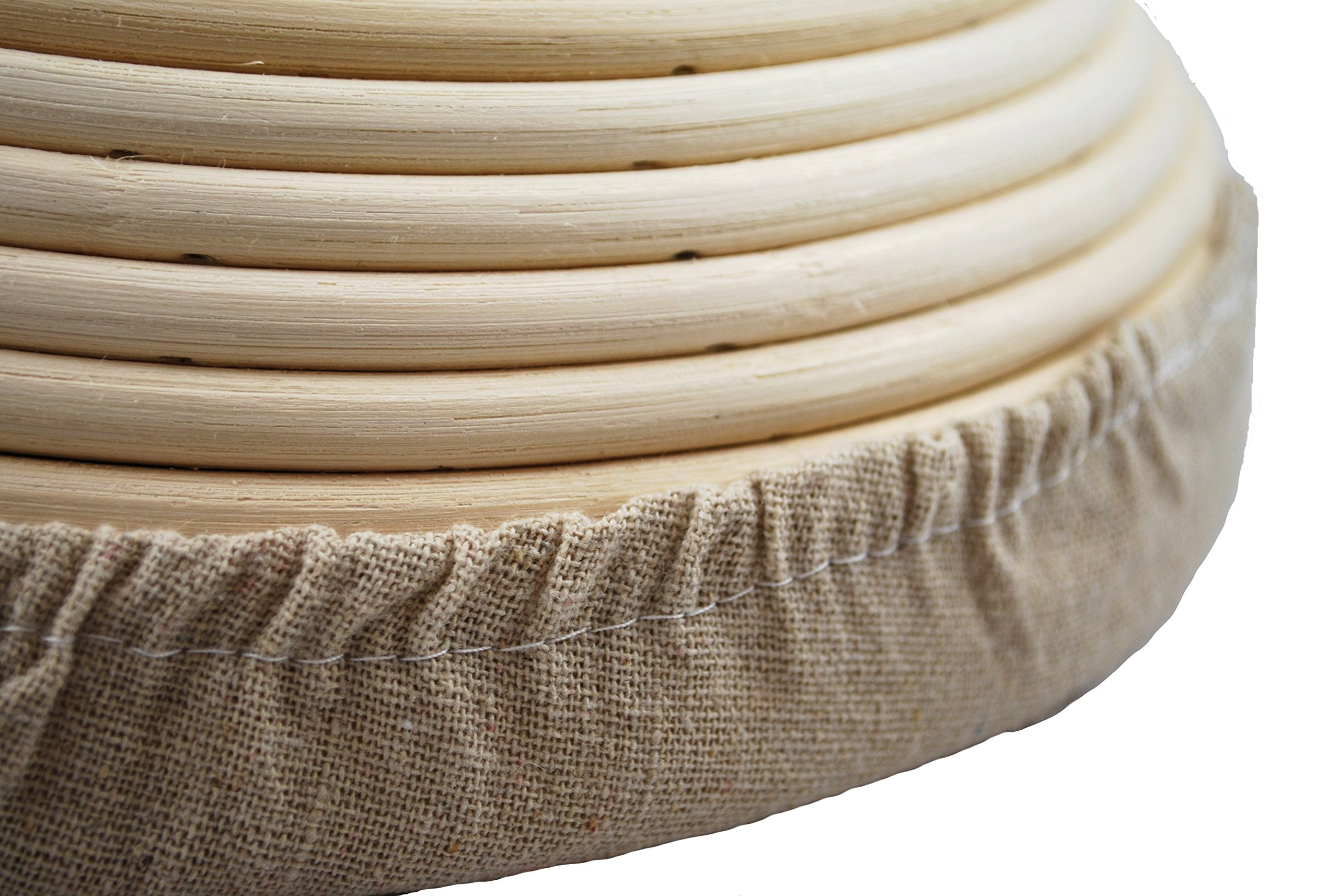 Adore Amore - 10 inch Round Banneton Bread Proofing Basket Removable Linen Cloth Liner Instructions and Recipe Included Natural Eco-Friendly Rattan Cane Brotform Large Bowl Artisan Bake Proving by Adore Amore (Image #5)