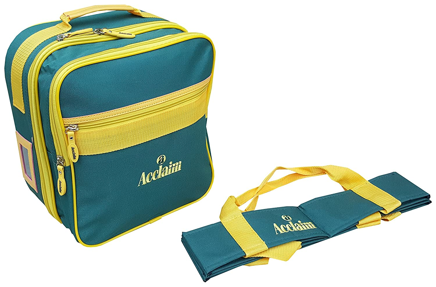 Acclaim Alnwick Nylon Four Bowl Level Lawn Flat Green Short Mat Locker Bowls Bag & Four Bowls Carrier