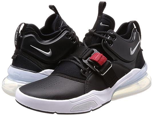 Amazon.com | Nike Air Force 270 Mens Running Shoes Black/Metallic Silver-White AH6772-001 (8.5 D(M) US) | Road Running