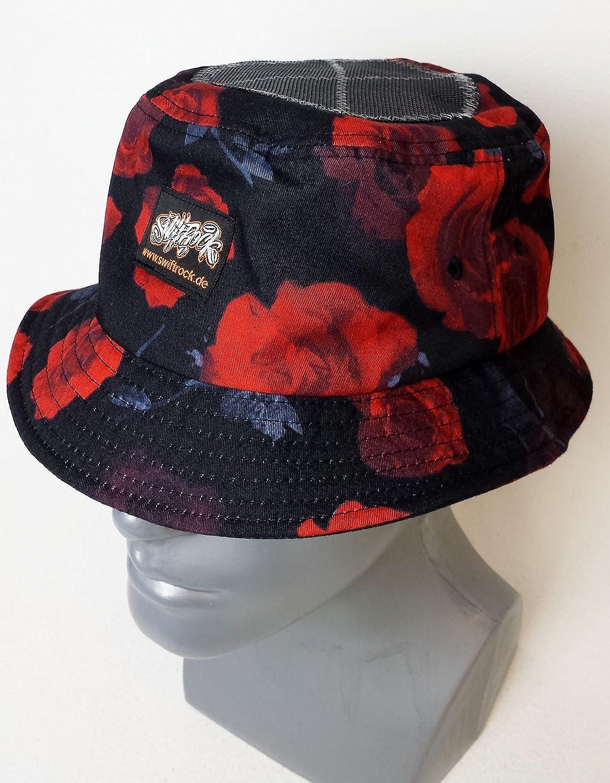 Swift Rock B-Boy Bucket Headspin Hat Red Hut Rot