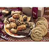 Dulcet Assorted Kraft Box, Assortment Filled with Chocolate Chip Cookies, Peanut Butter Cookies, Assorted Brownies and Assorted Rugelach, Great Gift Box!