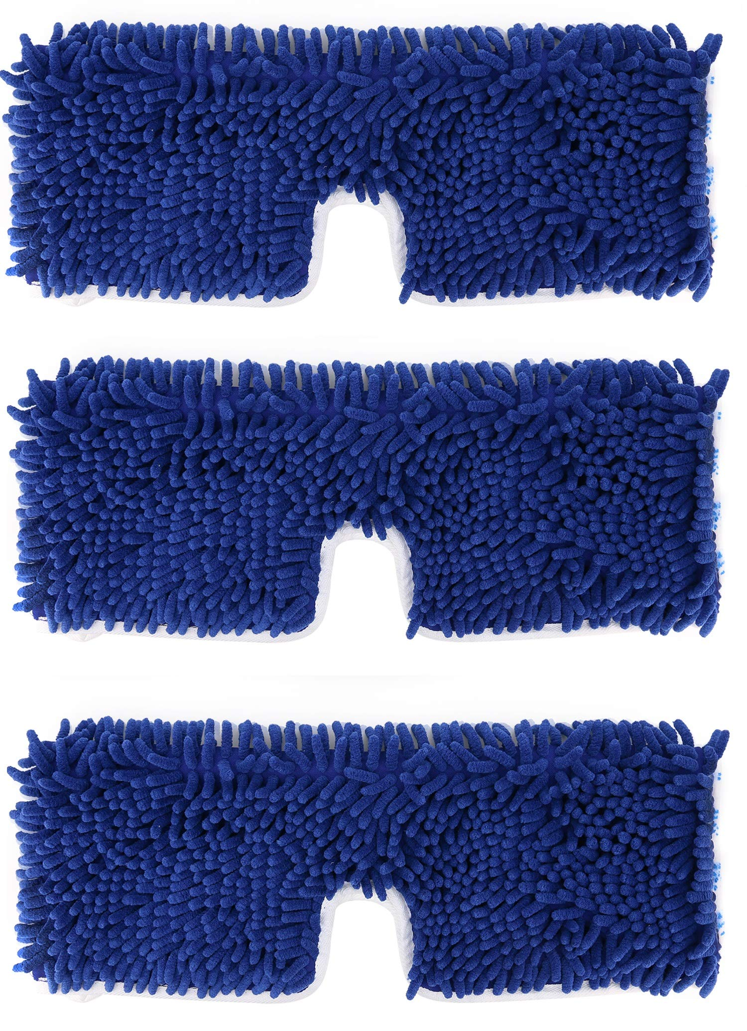 Extra Soft Dual- Action Replacement for O- Cedar Flip Mops, Long Lasting - Machine Washable, Versatile (Pack of 3, 18'')