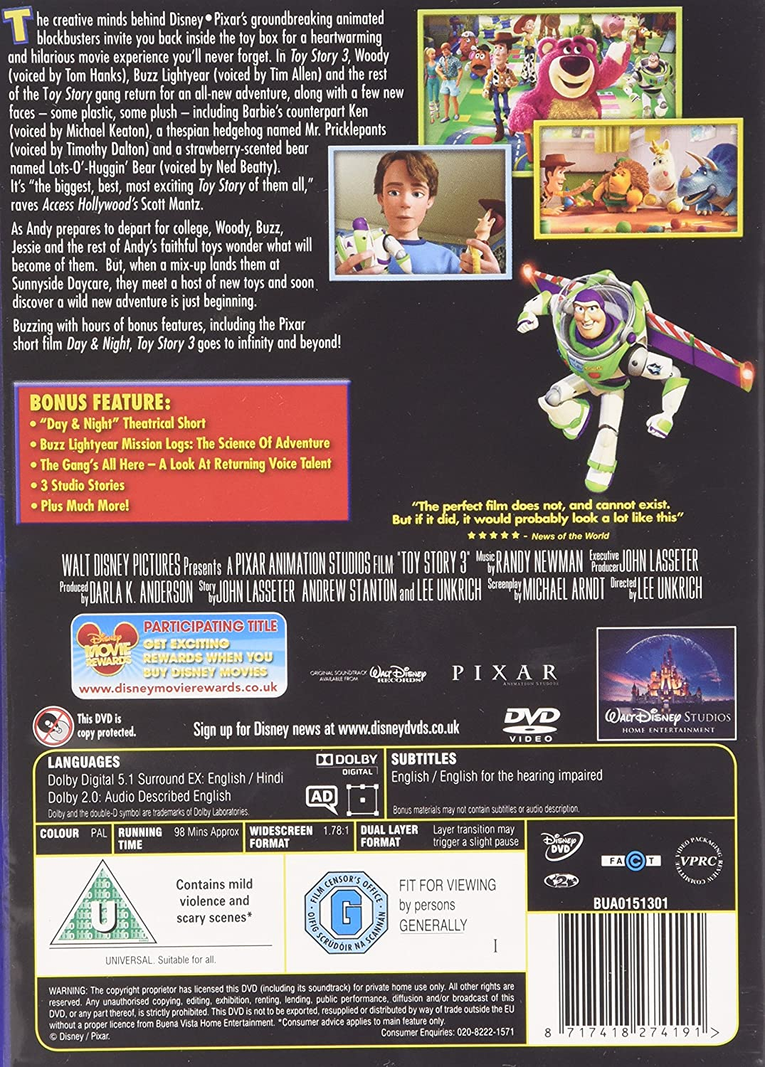 Toy story of terror 1 2 3 buzz lightyear of star command for sale - Toy Story 3 Dvd 2010 Amazon Co Uk Tom Hanks Tim Allen Joan Cusack Ned Beatty Don Rickles Michael Keaton Wallace Shawn John Ratzenberger