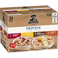 Quaker Instant Oatmeal 4 Flavor Variety Pack, Individual 24-Ct