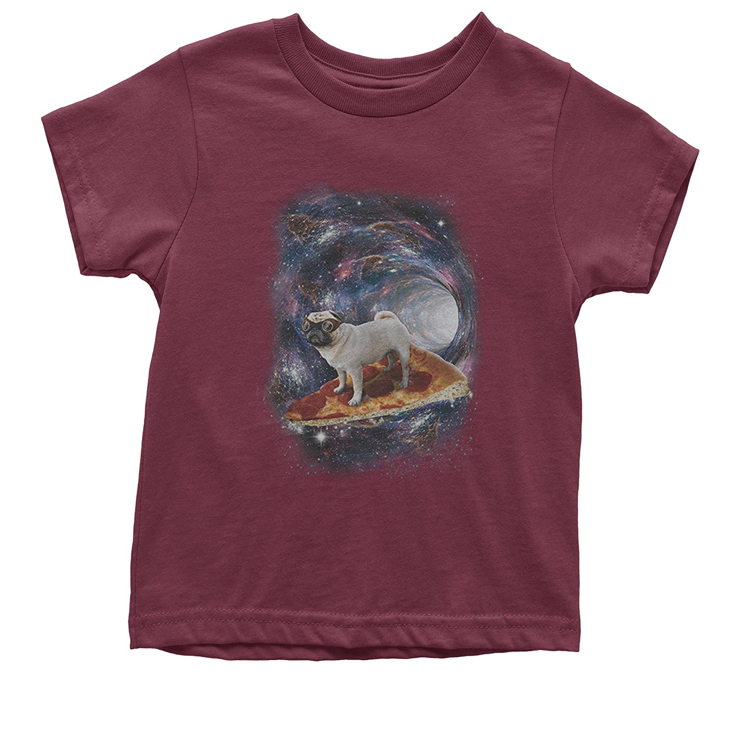 Expression Tees Pug Space Pizza Surfer Youth T-Shirt