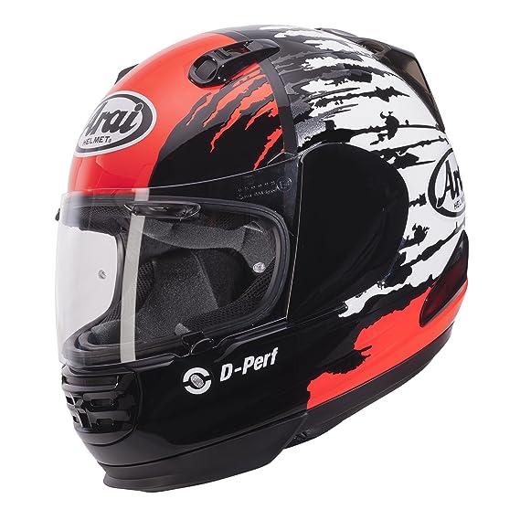 Amazon.es: Arai Rebel - Casco de moto integral, con visera, diseño de salpicadura, color rojo