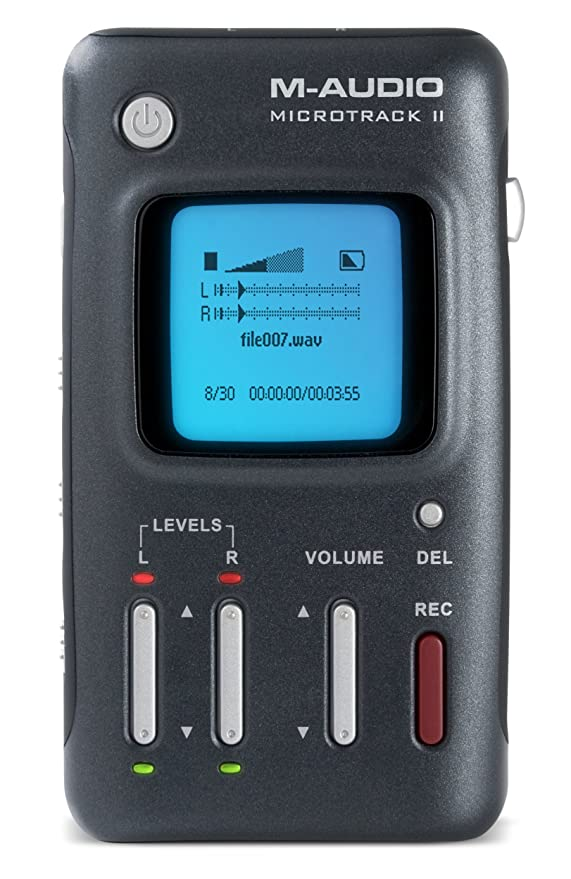 M-audio microtrack ii professional 2 channel mobile digital recorder.