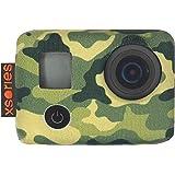 Xsories TXSD2A_JUNGLE CAMO Housseen néoprène pour GoPro Hero 3/Hero 3+/Hero 4 Vert