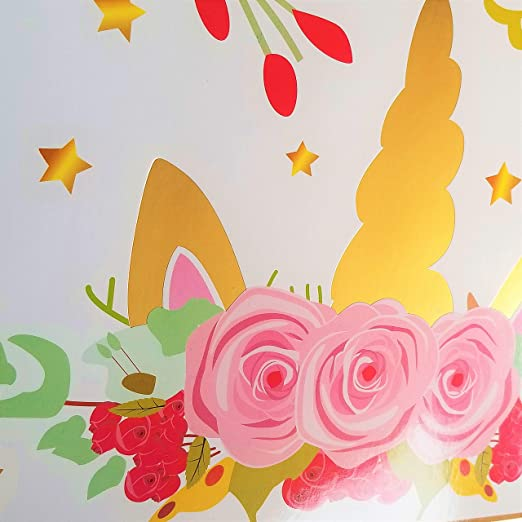 JeVenis - Marco de fotos con diseño de unicornio mágico para fiestas: Amazon.es: Hogar
