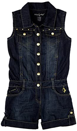 2edf89675b5 Amazon.com  Baby Phat Big Girls  Denim Romper