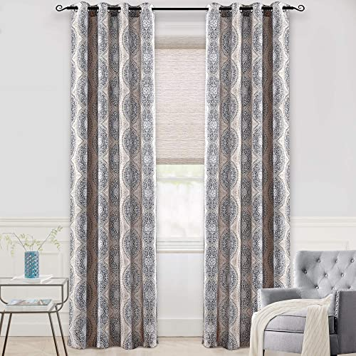 DriftAway Adrianne Thermal and Room Darkening Grommet Unlined Window Curtains Set of 2 Panels Each 52 Inch