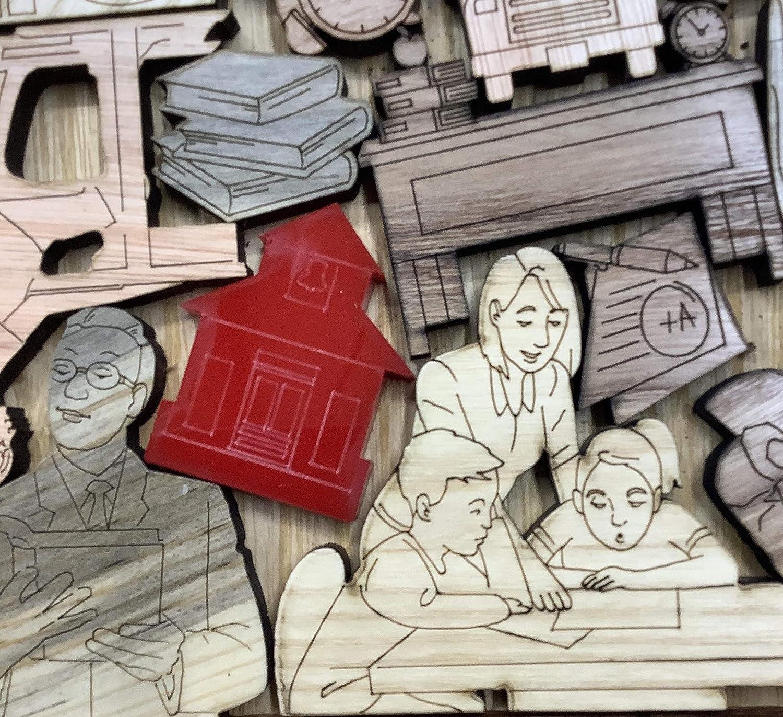 Creative Crafthouse Teacher Appreciation Puzzle A Fun and Unique Gift Idea 16 Piece Wooden Puzzle