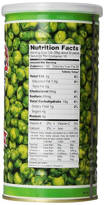 Amazon Hapi Hot Wasabi Peas 99 Ounce Tins Pack Of 4