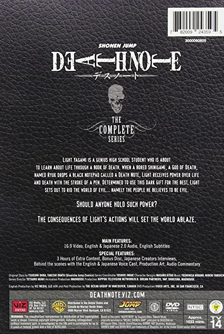 Amazon com: Death Note (animated) Complete Set Repackage