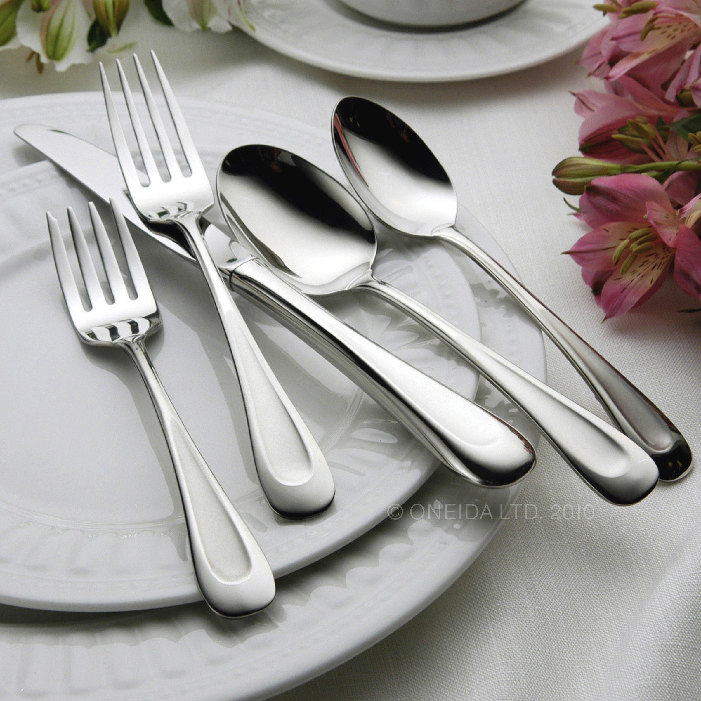 Oneida Satin Sand Dune Dinner Forks, Set of 4 by Oneida (Image #5)