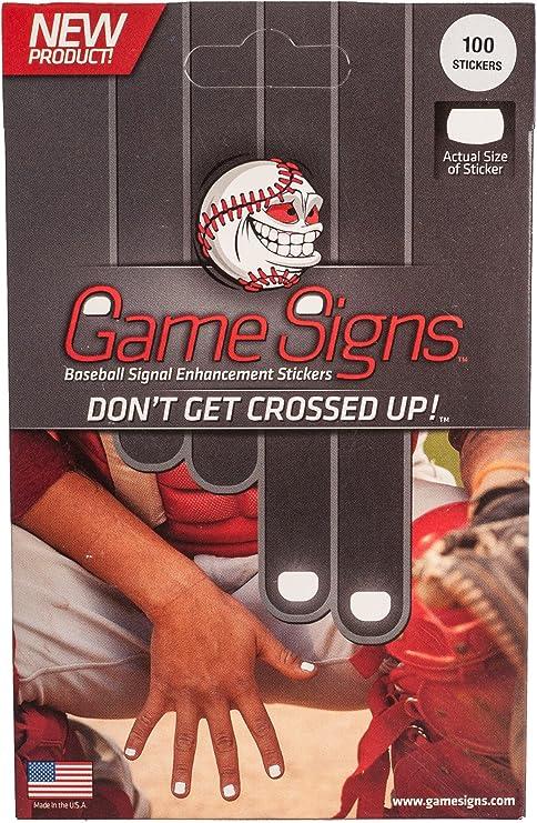 M^POWERED BASEBALL Juego de béisbol Mpowered señales de señal Mejorada de Catcher Entrega Pegatinas (Pack de 100): Amazon.es: Deportes y aire libre