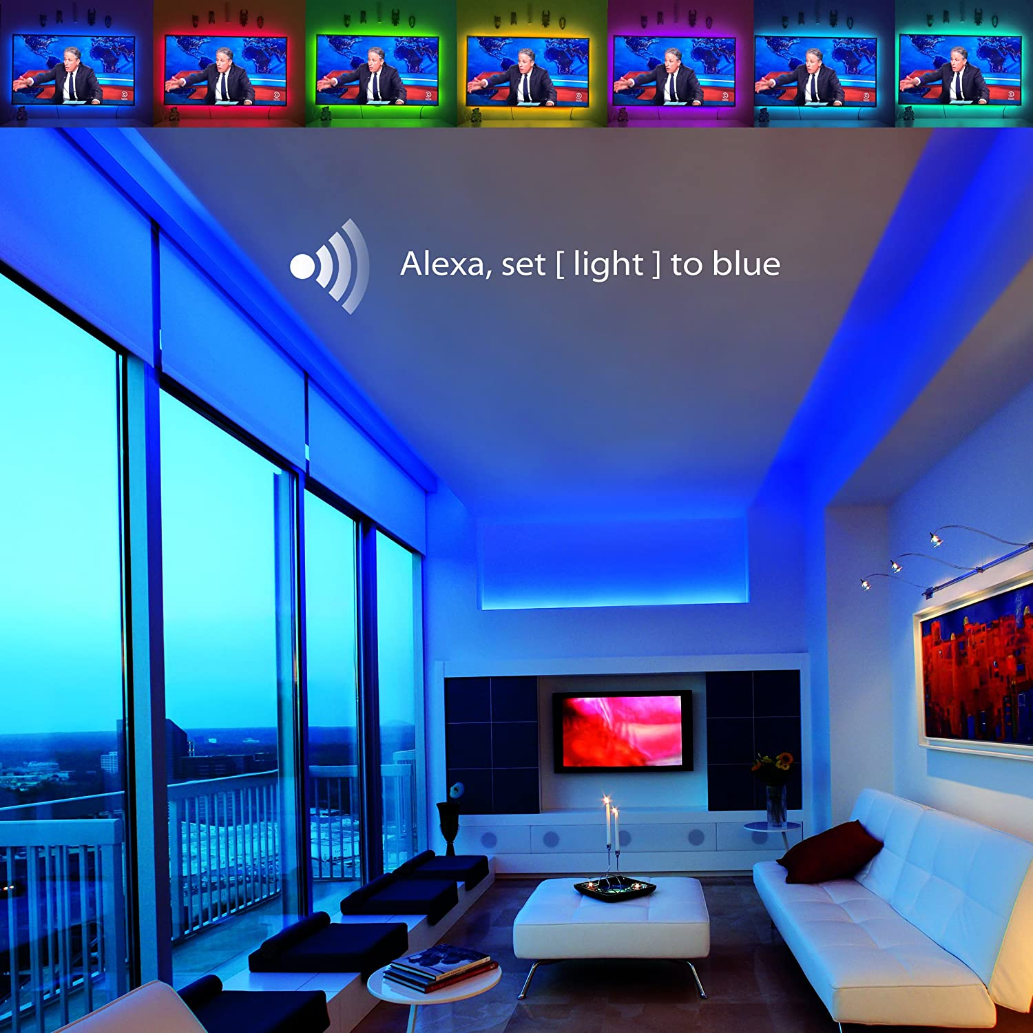 Led Strip Lights Compatible With Alexa Maxonar Wifi Compare Automatic Room Light Controller Source Kit Rgb Multicolor Waterproof Ip65 Wireless Smart Phone