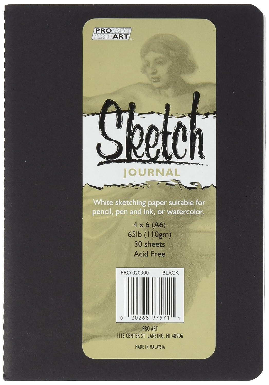 Pro-Art Softcover sketch Journal 10,2 cm x 6-inch-black, altri 2cm x 6-inch-black 033020300
