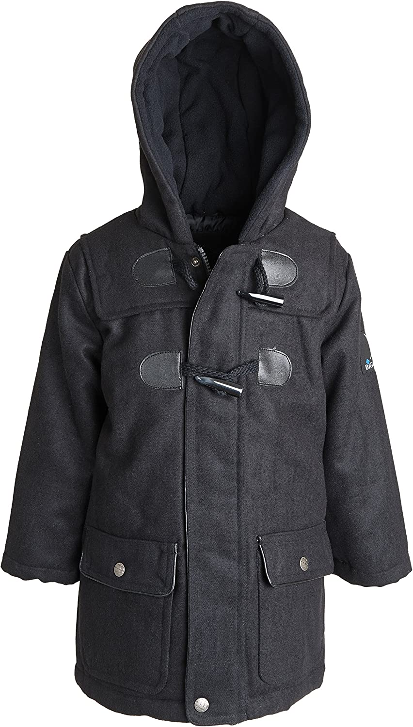 Big Chill Boys and Toddler Toggle Hooded Wool Look Dress Coat Jacket: Clothing