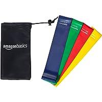 AmazonBasics - Bandas cerradas de resistencia, con bolsa (4 unidades)