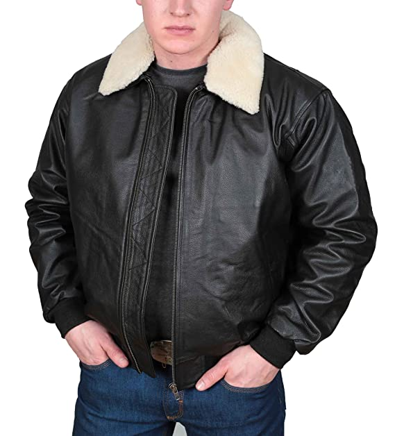 Mens Real Leather Aviator Pilot Flying Air Force A2 Bomber ...