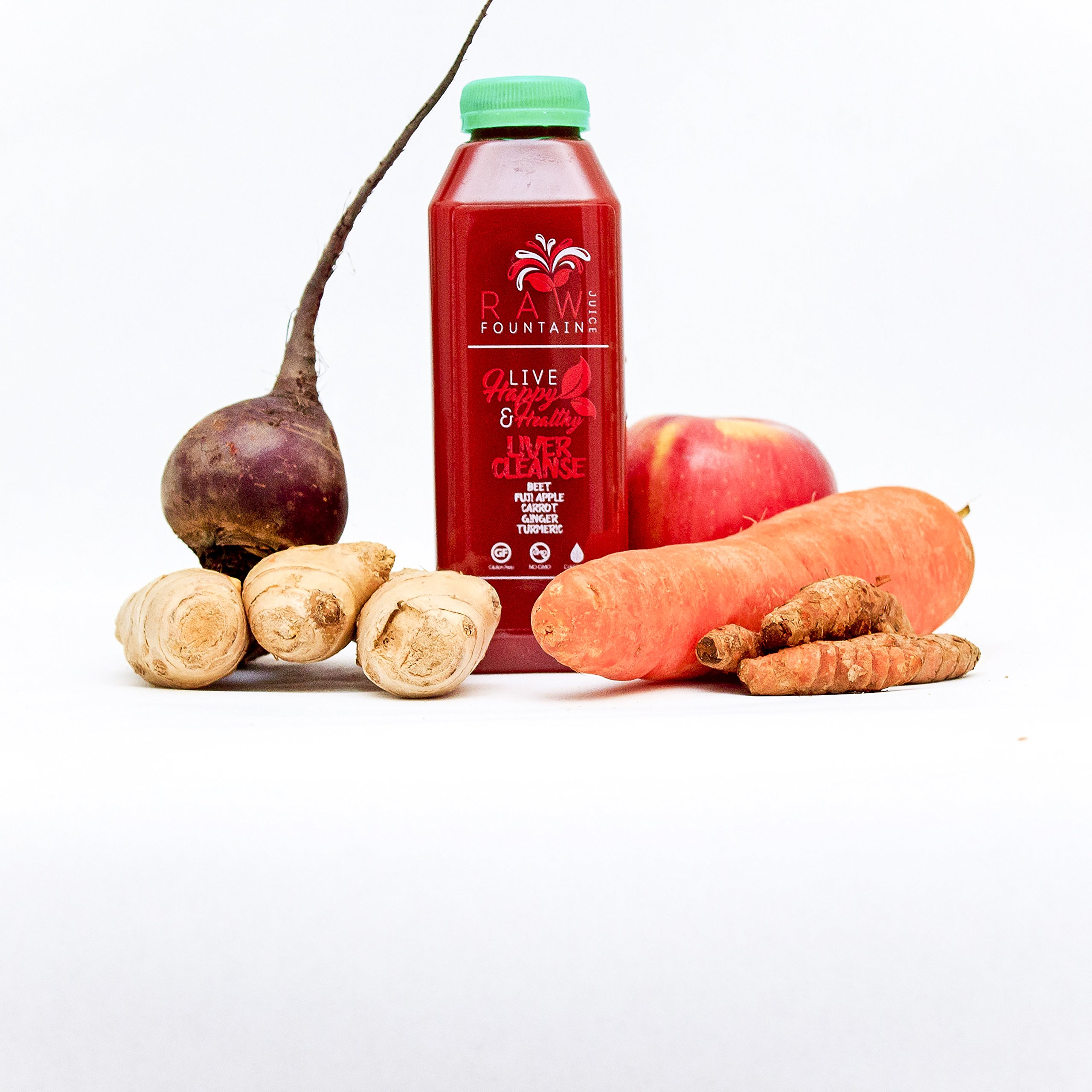 7 Day Juice Cleanse by Raw Fountain Juice - 100% Fresh Natural Organic Raw Vegetable & Fruit Juices - Detox Your Body in a Healthy & Tasty Way! - 42 Bottles (16 fl oz) + 7 BONUS Ginger Shots by Raw Threads (Image #6)
