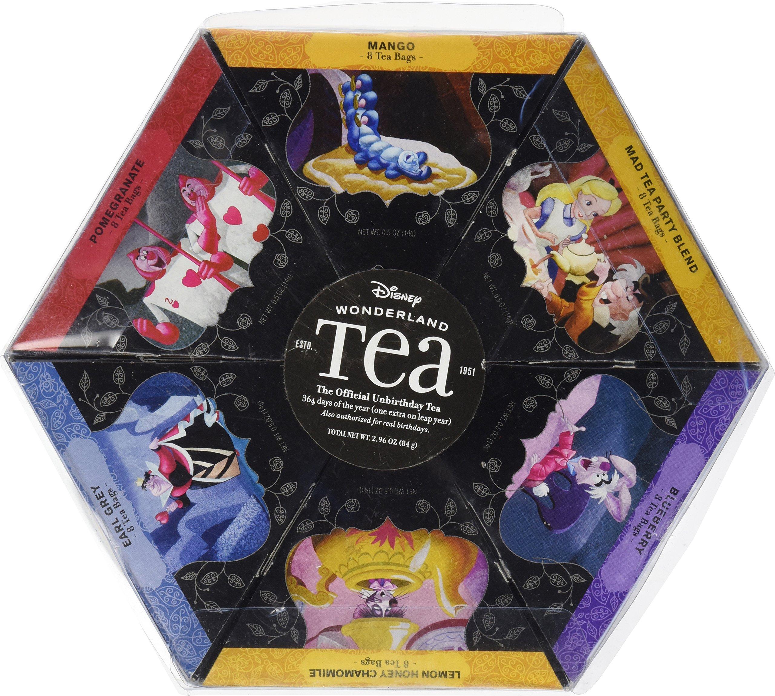 Disney Parks Alice in Wonderland 6 Pack Flavored Tea Bag Sampler Pak