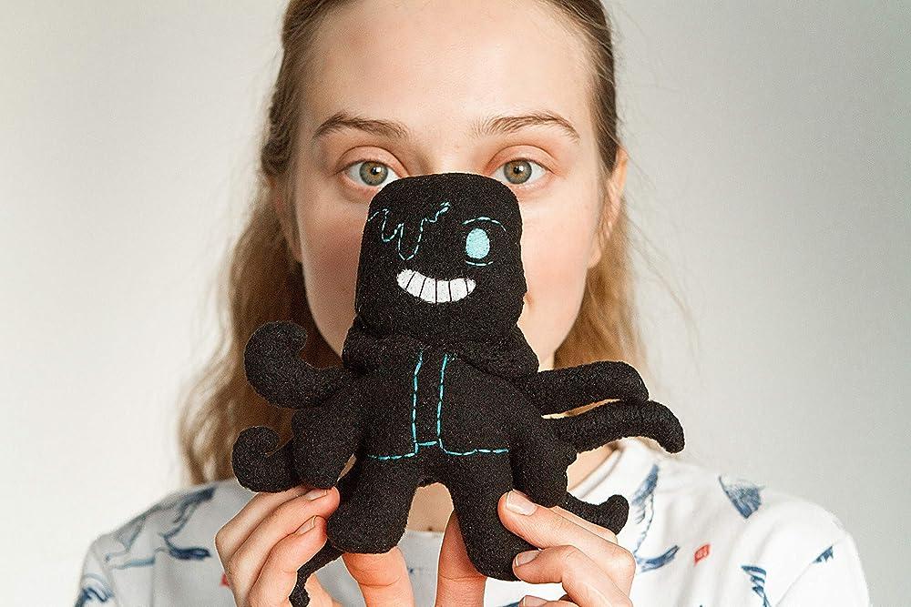 Nightmare Sans plush 12 cm handmade deltarune plush Undertale AU