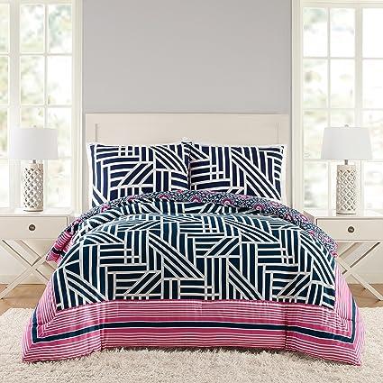 Amazoncom Vera Bradley A073416nyefs Geo Comforter Set King 3