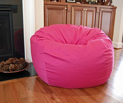 Ahh Products Hot Pink Organic Cotton Washable Large Bean Bag Chair
