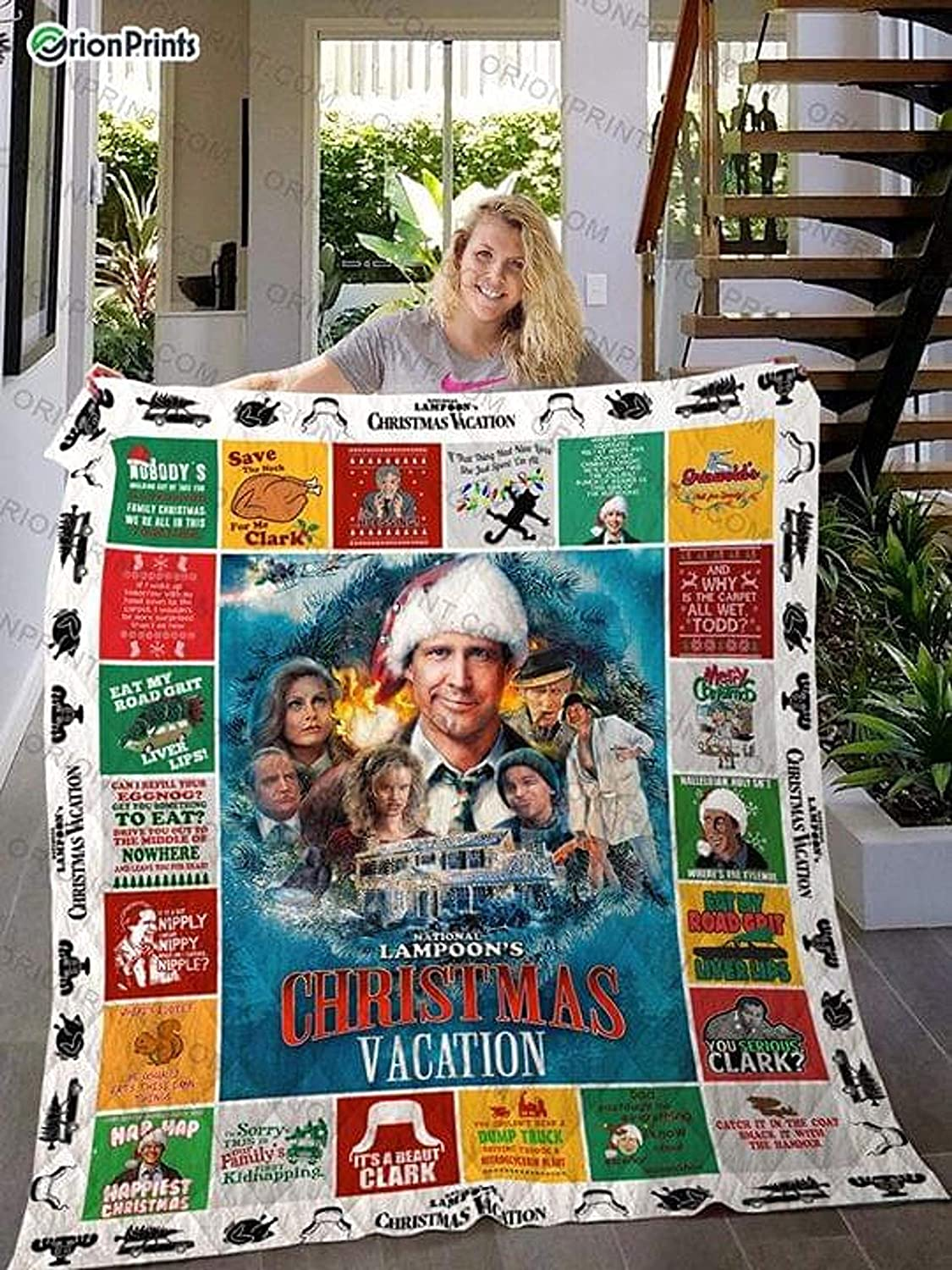 Gifts Blanket National Lampoon's Christmas Vacation Cozy Plush Fleece Blanket Size 60x80 inch Gift for Family Awesome Decor Home