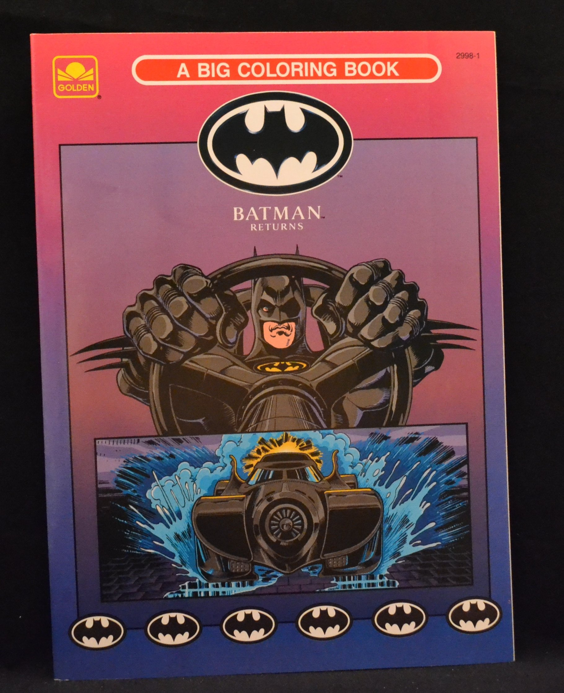 Batman Returns A Big Coloring Book Golden Books 9780307029980 Amazon