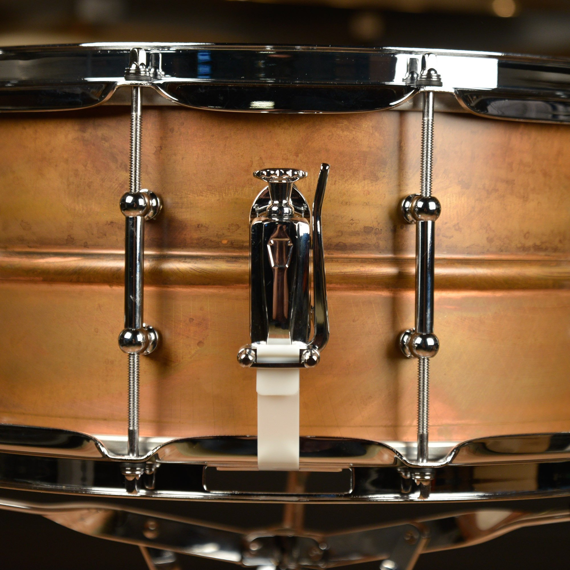 Ludwig Copper Phonic Smooth Snare Drum 14 x 6.5 in. Raw Smooth Finish with Tube Lugs by Ludwig (Image #4)