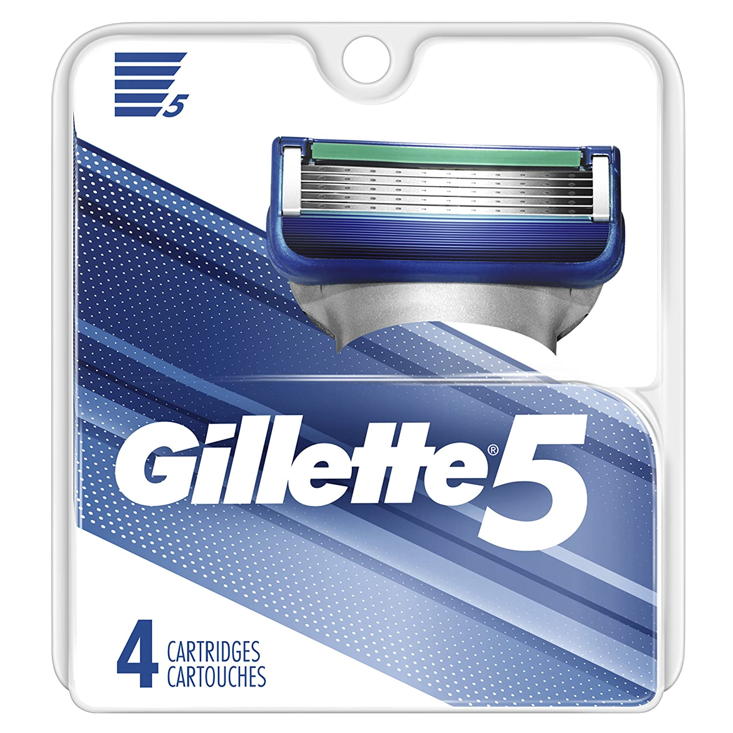 Gillette 5 Men's Razor Blade Refill Catridges, 4 Count Procter and Gamble