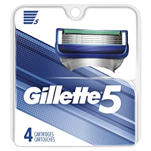 Gillette 5 Men's Razor Blade Refills, 4 Count