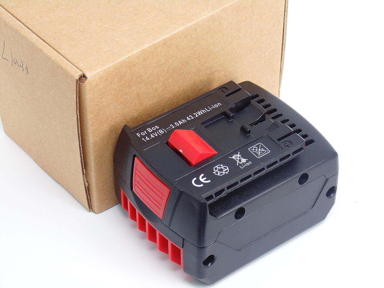 Exmate 3.6V 3000mAh litio Bater/ía para Bosch 2607336241 2607336242 BAT504