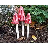 Cerámica Jardín Hada de setas tinkling setas decoraciones de jardín ps5081