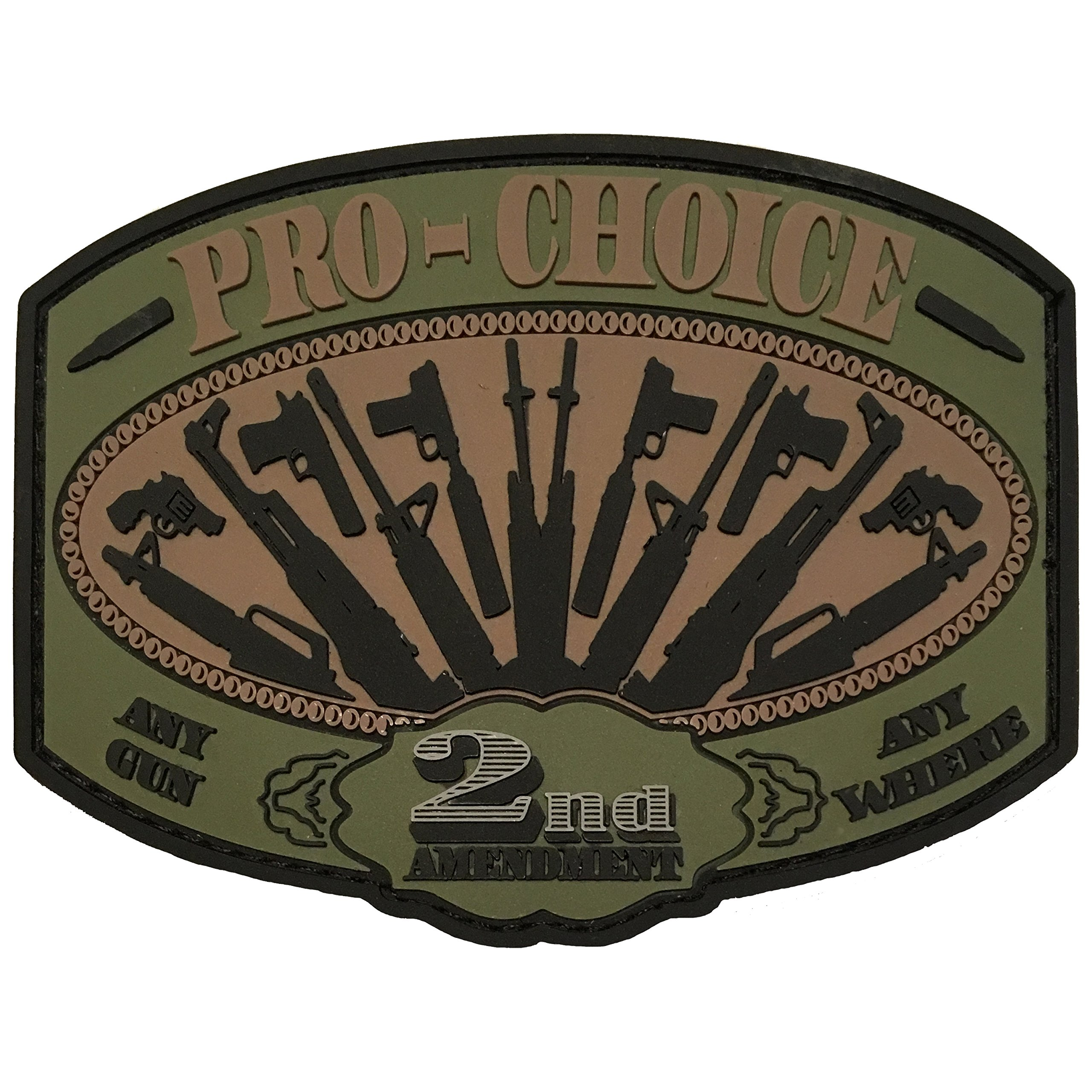 Pro Choice - 2nd Amendment - PVC Morale Patch