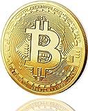 Physische Bitcoin Münze mit 24-Karat Echt-Gold überzogen. Wahres Sammlerstück mit Schutzhülle, Münzkapsel. Ein Muss für jeden Bitcoin-Fan + GRATIS E-Book gegen Cyber-Attacken