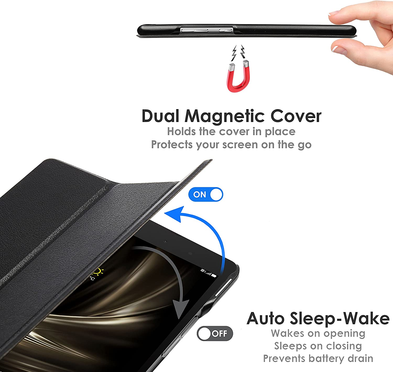 Ultra D/ünn Leicht Rundum-Ger/äteschutz Stift Smart Auto Schlaf Wach Forefront Cases ASUS ZenPad 3 8.0 ZT581KL H/ülle Schutzh/ülle Tasche Smart Case Cover Stand VIOLETT