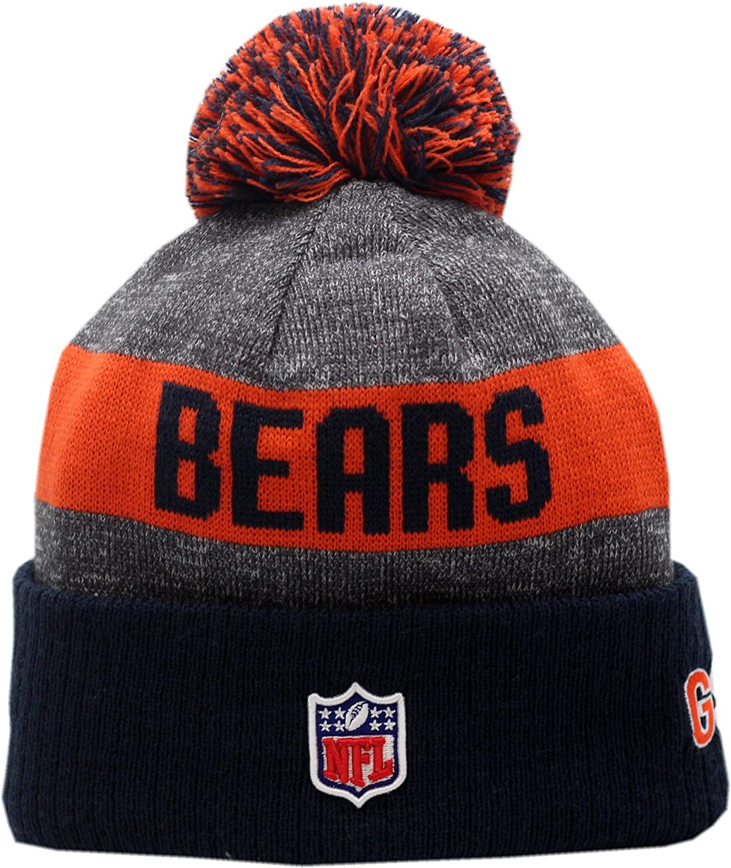 Amazon.com   Chicago Bears 2016 Sport Pom Knit Hat On-Field C Logo Block  12265   Sports   Outdoors f0c76a574